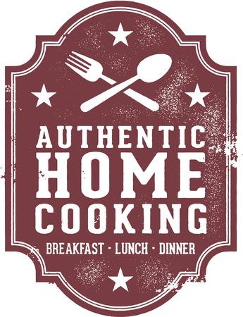 Authentic Home Cooking Accedi Archivio Fotografico - 29537485