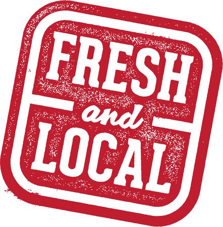 mercado: Frescos e locais dos produtos alimentares das Stamp