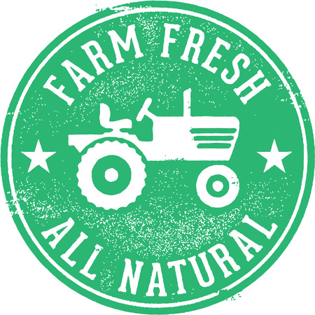 Farm Fresh All Natural Stamp Vector