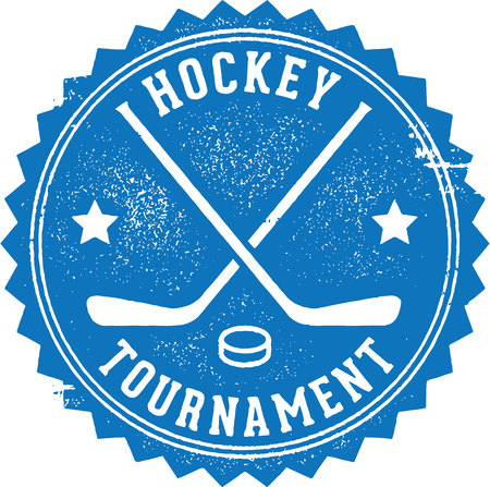 Hockey Tournament Stamp Vector