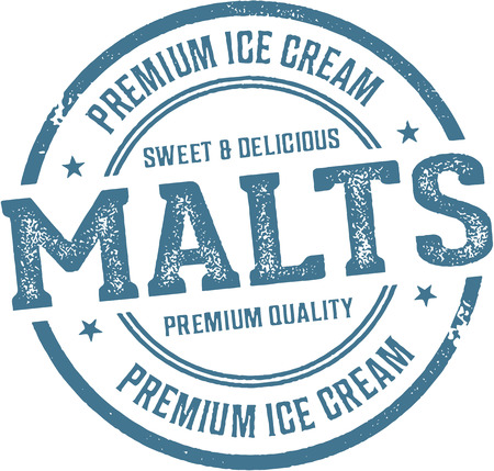 Vintage Malt Shop Sign Illustration