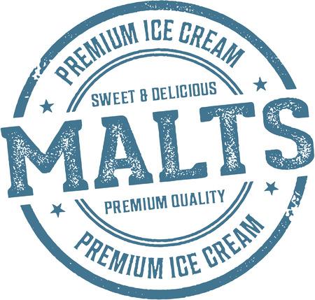 Vintage Malt Shop Aanmelden Stock Illustratie