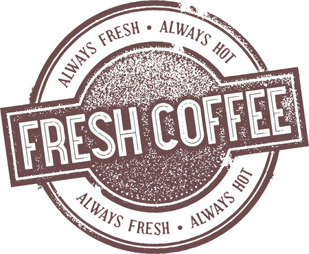 Vintage Fresh Coffee Sign Ilustracja