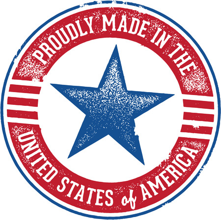 Proudly Made in the USA sign Vector