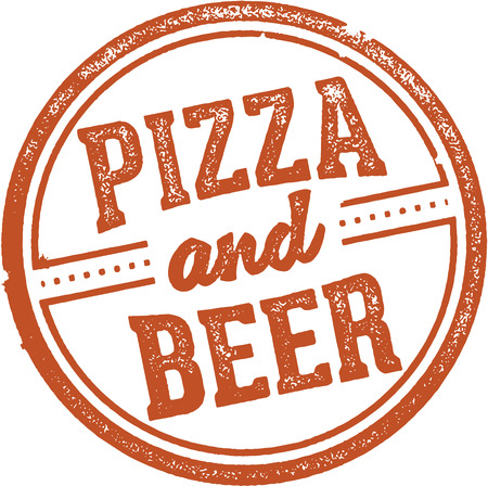 Pizza and Beer Stamp