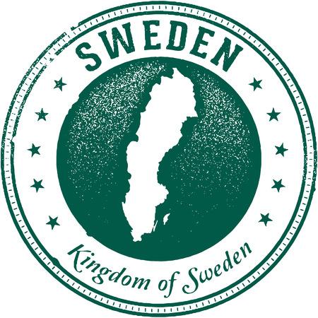 스웨덴 국가 스탬프 일러스트