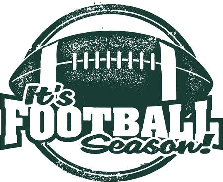 It\'s Football Season Rubber Stamp Illustration