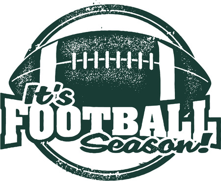 It\'s Football Season Rubber Stamp Vettoriali