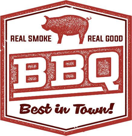 Weinlese BBQ Restaurant Sign Standard-Bild - 38959647