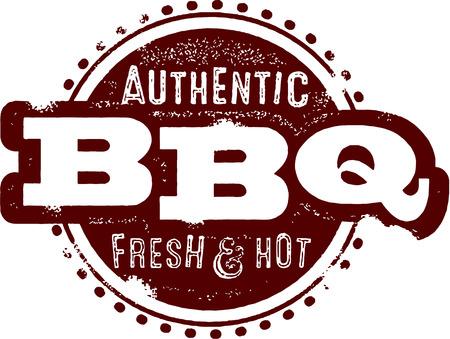 grilled meat: Vintage BBQ Restaurant Sign