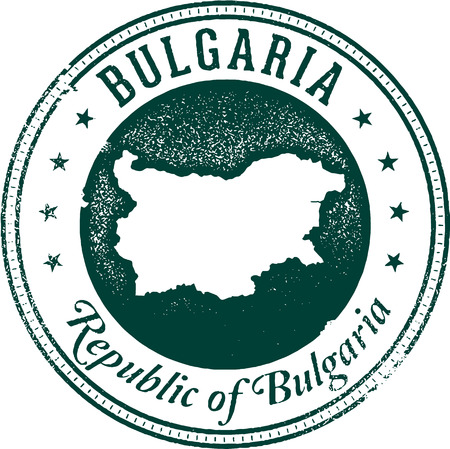 Bulgarie Pays Stamp Banque d'images - 38959658