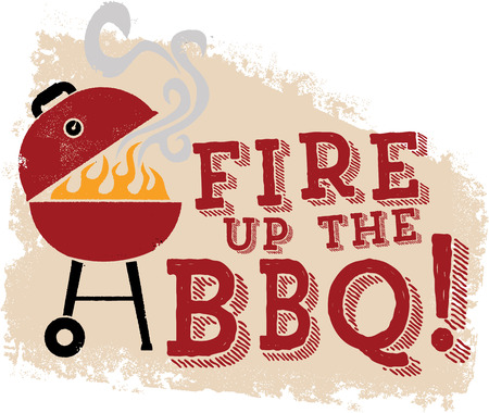 Fire up the BBQ Grill Illustration