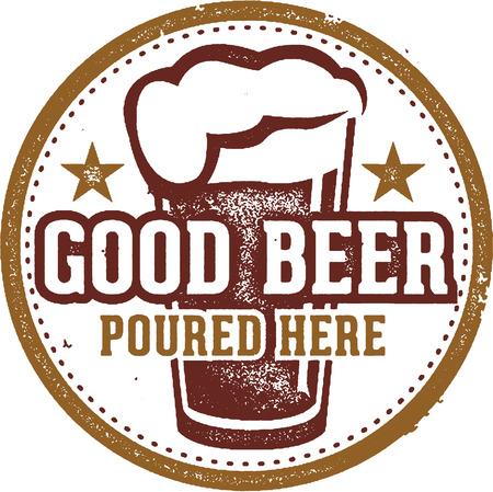 Good Beer Bar Sign