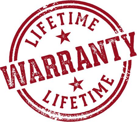 Lifetime Warranty Stamp  イラスト・ベクター素材
