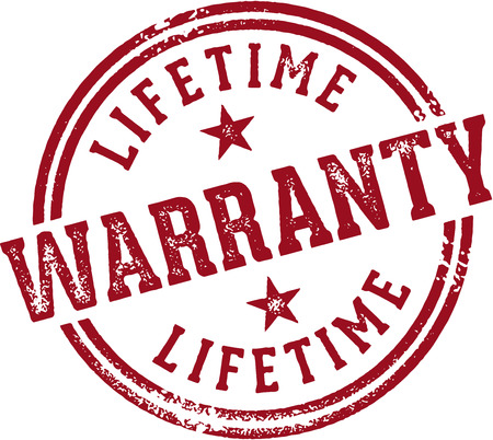 Lifetime Warranty Stamp Ilustrace