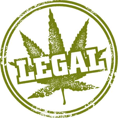 Juridische Marijuana Stamp Stock Illustratie