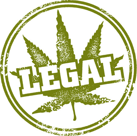 legal: Legal Marijuana Stamp