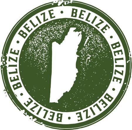 Vintage Stamp Belize Voyage Banque d'images - 59027400