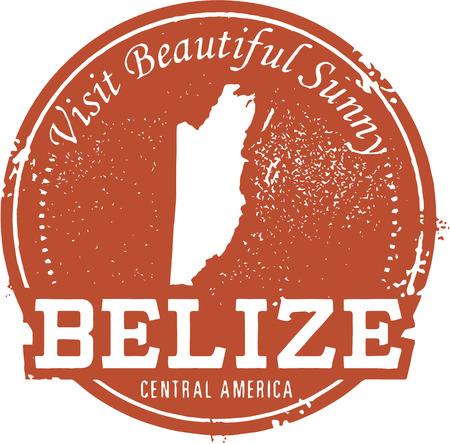 Vintage Belize Travel Stamp 向量圖像