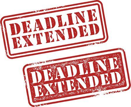 Deadline Extended Stamps