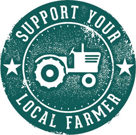 Support Your Local Farmer Ilustração Vetorial
