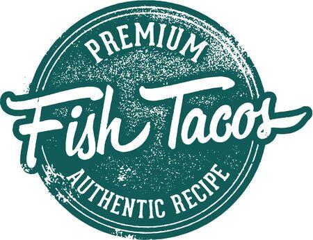 Premium Fish Tacos Menu Stamp