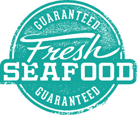fine dining: Fresh Seafood Rubber Stamp