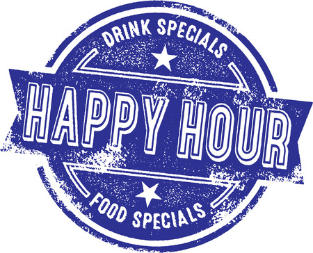 Happy Hour Bar Specials Иллюстрация