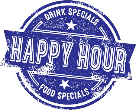 Happy Hour Bar Specials Illustration