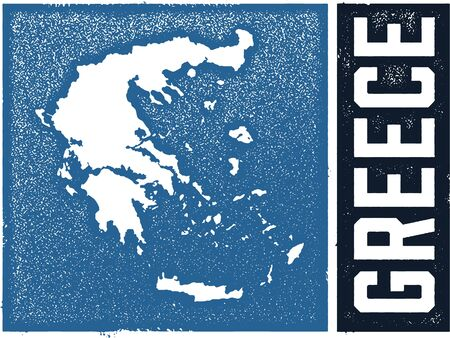 Greece Vintage Country Graphic Çizim