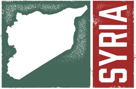 Syrië land afbeelding Stock Illustratie