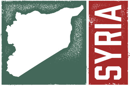 Syria Country Graphic Çizim