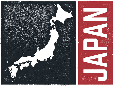 Japan Country Graphic Ilustracja
