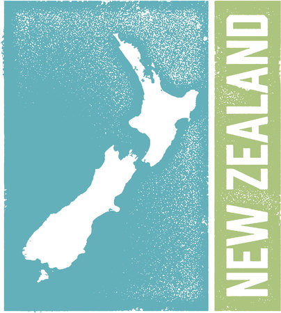 New Zealand Country Graphic