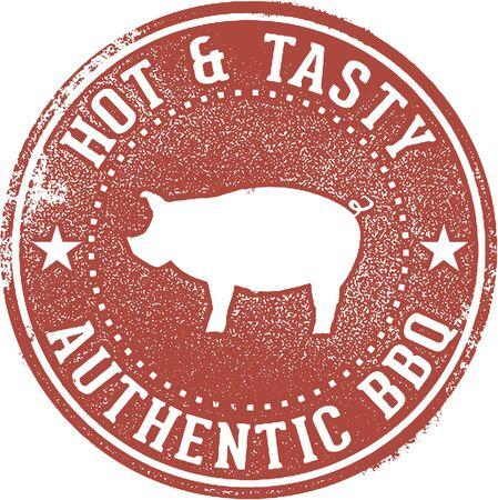 Authentic Barbecue BBQ Menu Stamp