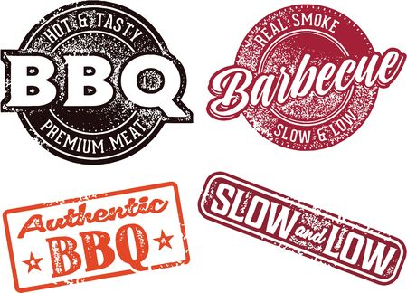 grill meat: Premium BBQ Meat Stamp