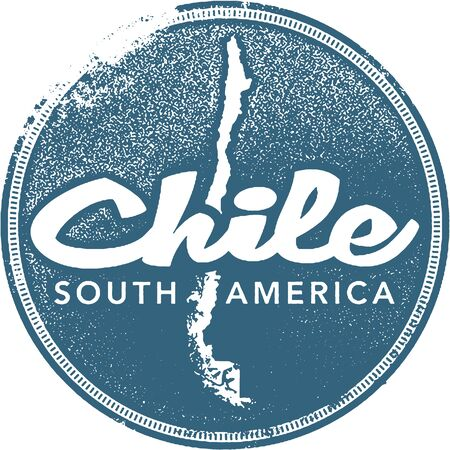 Chile South America Travel Stamp