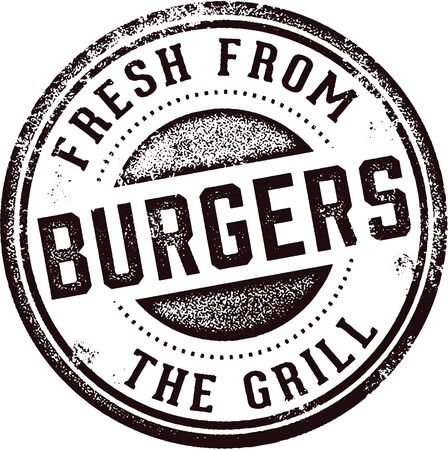 Burgers Fresh from the Grill Stamp