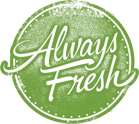 Always Fresh Product Label Stamp