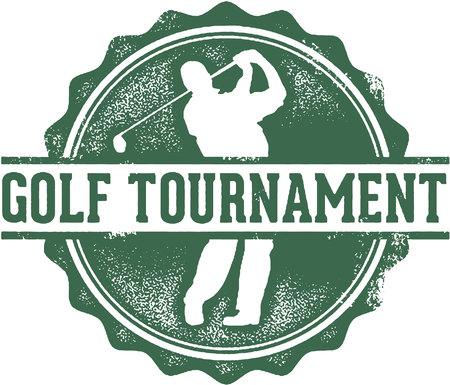 retro: Golf Tournament Stamp