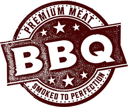 Premium BBQ Smoked Meat Ilustração