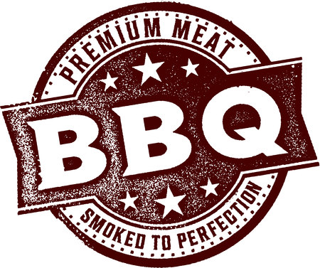 Premium BBQ Smoked Meat Illusztráció