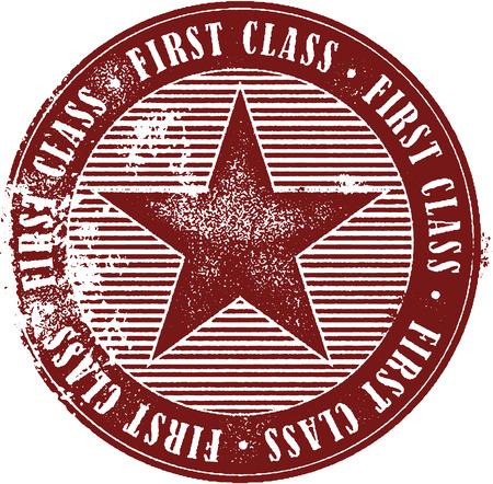 first class: First Class Rubber Stamp