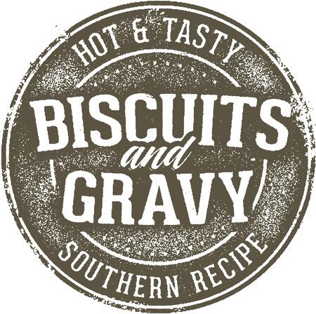 Biscotti d'epoca e Gravy afflitto Segno Vettoriali