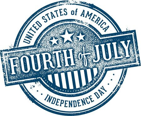 Vintage Fourth of July Independence Day Sign 版權商用圖片 - 70193867