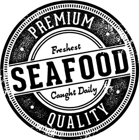 Premium Quality Seafood Stamp