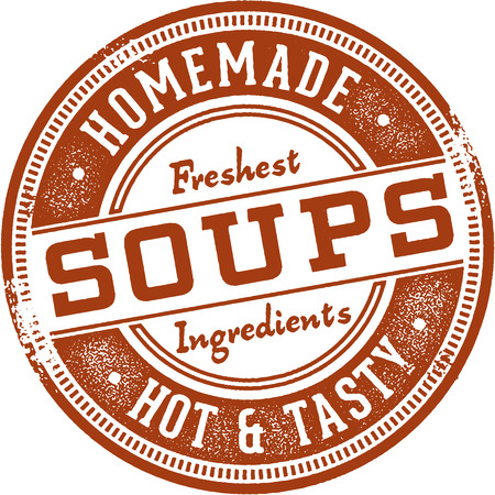 Homemade Soups Menu Sign Illustration
