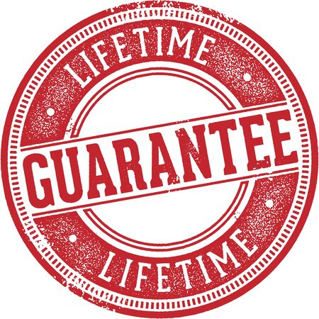 Lifetime Guarantee Rubber Stamp