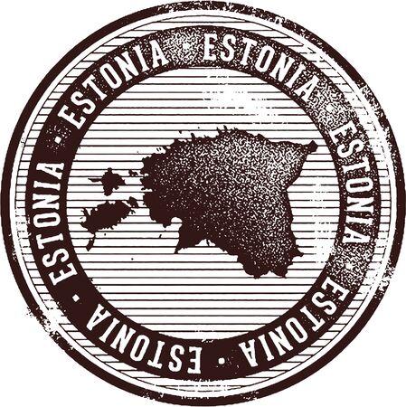 ビンテージ エストニア国スタンプ