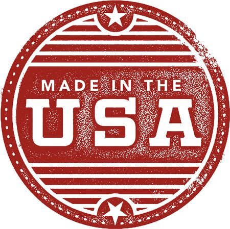 red america: Made in the USA Rubber Stamp Imprint